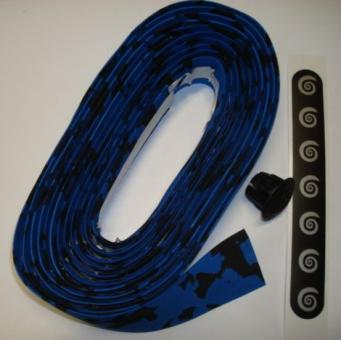 BIKE RIBBON CORK PLUS  Lenkerband, blau-schwarz