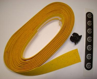 BIKE RIBBON CORK PLUS  Lenkerband, gelb