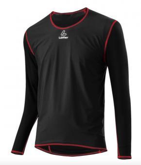 LÖFFLER WINDSTOPPER Shirt Transtex Light  Unterhemd, schwarz, Gr.