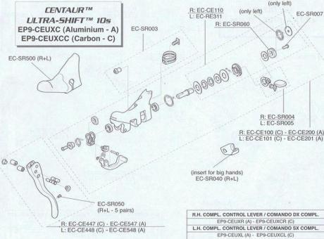 CAMPAGNOLO ULTRASHIFT  Schalteinheit (EC-CE101)