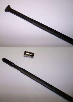 CAMPAGNOLO SHAMAL  Speiche + Nippel, schwarz,