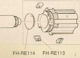 CAMPAGNOLO Feder (FH-RE114) f. Freilauf zum Halten