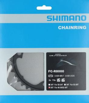 SHIMANO ULTEGRA (FC-R8000)  Kettenblatt, 36 Zähne (36 auf 52)