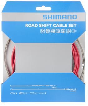 SHIMANO DURA ACE  Schaltzugset, rot