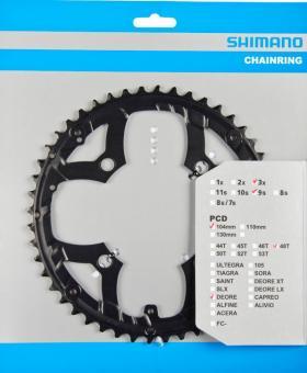 SHIMANO DEORE (FC-M590)  Kettenblatt, schwarz, 48 Z., 4-Arm