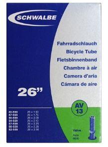 """SCHWALBE AV13  Schlauch, 26"""", Autoventil (40 mm)"""