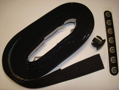 BIKE RIBBON CORK PLUS  Lenkerband, schwarz