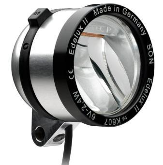 SCHMIDT EDELUX II  LED-Scheinwerfer, silber-eloxiert, 60 cm Kabel