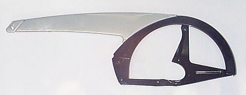 HORN CATENA  Kettenschutz bis 44 Z., silber-schwarz