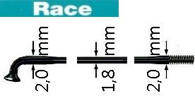 SAPIM RACE  Speiche, schwarz,