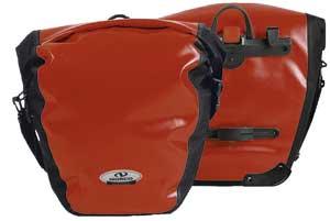 NORCO ARKANSAS  Hinterradtasche, 2*20 L, rot/schwarz