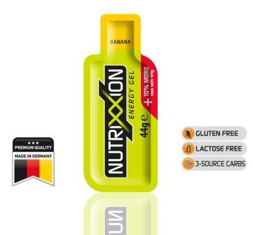 NUTRIXXION EnergieGel, Banane, 44 g, 1 Stück