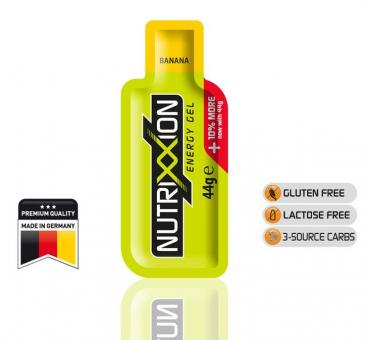 NUTRIXXION EnergieGel, Banane, 44 g,