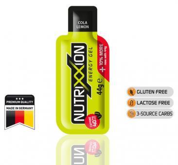 NUTRIXXION EnergieGel, Cola-Lemon, 44 g (mit Koffein),