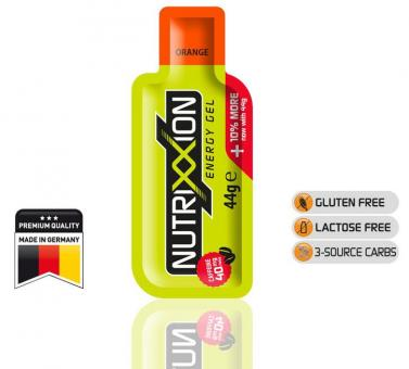 NUTRIXXION EnergieGel, Orange, 44 g (mit Koffein),