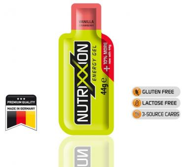 NUTRIXXION EnergieGel, Vanilla-Strawberry, 44 g,