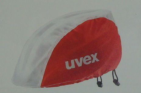 UVEX RAINCAP BIKE  Regenschutz, weiß-rot,