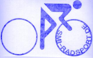 SMI Radfahreraufkleber, blau