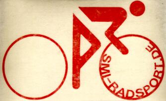 SMI Radfahreraufkleber, rot