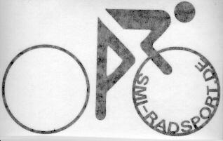 SMI Radfahreraufkleber, schwarz