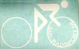 SMI Radfahreraufkleber, weiß