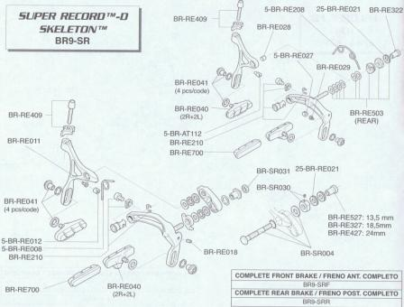 CAMPAGNOLO Federhalter für HR-Bremse