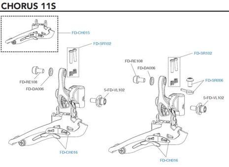 CAMPAGNOLO Kunststoffeinsatz für Umwerfer (FD-CH016)