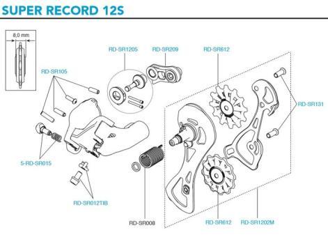 CAMPAGNOLO SUPER RECORD  Kabelstellschraube mit Feder