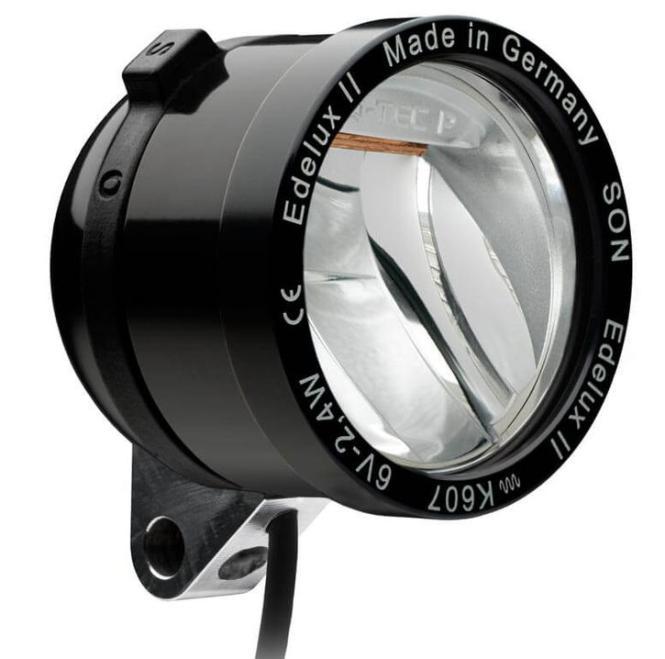 SCHMIDT EDELUX II  LED-Scheinwerfer, schwarz, 60 cm Kab