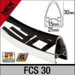 AMBROSIO FCS 30  Drahtreifen-Felge, schwarz,